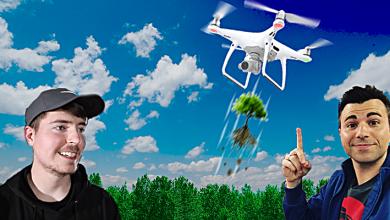 Photo of يوتيوبرز يطلقون حملة تبرعات ضخمة لغرس 20 مليون شجرة بواسطة الطائرات دون طيار