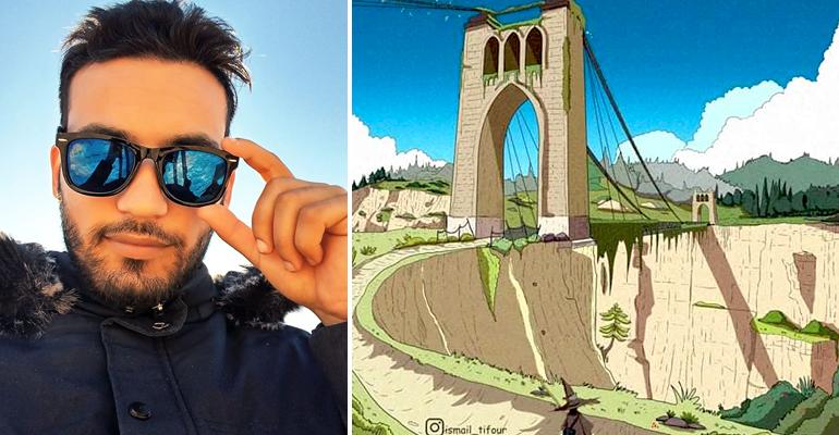Photo of إسماعيل طيفور فنان من تيارت يرسم الجزائر بأسلوب الأنمي