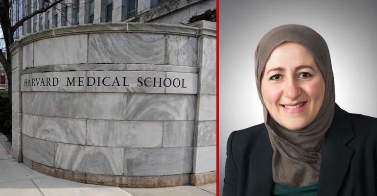 Photo of نادية بوطاوي باحثة جزائرية عملت في كلية الطب بجامعة هارفارد